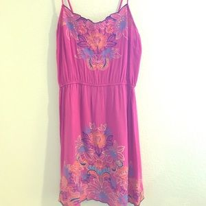 Pink floral strappy dress